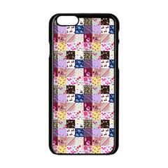 Quilt Of My Patterns Small Apple Iphone 6/6s Black Enamel Case by snowwhitegirl