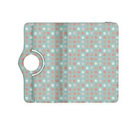 Peach Pink Eggs On Green Kindle Fire Hdx 8 9  Flip 360 Case by snowwhitegirl