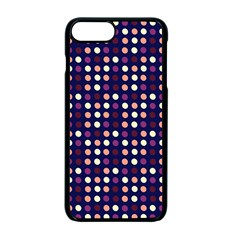 Peach Purple Eggs On Navy Blue Apple Iphone 7 Plus Seamless Case (black)