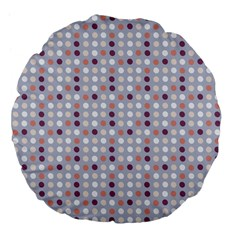 Pink Purple White Eggs On Lilac Large 18  Premium Flano Round Cushions by snowwhitegirl