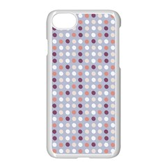 Pink Purple White Eggs On Lilac Apple Iphone 7 Seamless Case (white) by snowwhitegirl