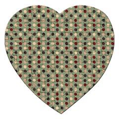 Grey Beige Burgundy Eggs On Green Jigsaw Puzzle (heart) by snowwhitegirl