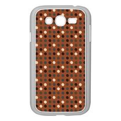 Grey Eggs On Russet Brown Samsung Galaxy Grand Duos I9082 Case (white) by snowwhitegirl