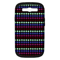 Multi Black Dots Samsung Galaxy S Iii Hardshell Case (pc+silicone)