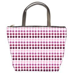 Pink Red Dots Bucket Bags by snowwhitegirl