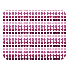 Pink Red Dots Double Sided Flano Blanket (large)  by snowwhitegirl