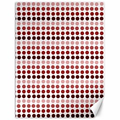 Reddish Dots Canvas 12  X 16