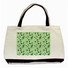 Mint Green Music Basic Tote Bag by snowwhitegirl