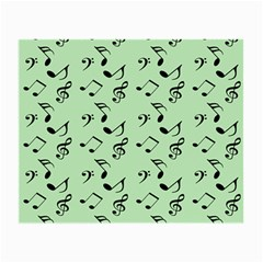 Mint Green Music Small Glasses Cloth (2 Side) by snowwhitegirl