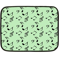 Mint Green Music Fleece Blanket (mini) by snowwhitegirl