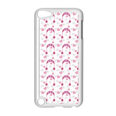 Winter Pink Hat White Heart Snow Apple Ipod Touch 5 Case (white) by snowwhitegirl