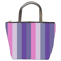 Concert Purples Bucket Bags by snowwhitegirl