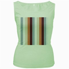 Grape Tapestry Women s Green Tank Top