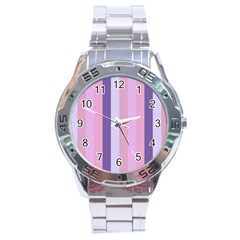 Violet Stars Stainless Steel Analogue Watch by snowwhitegirl