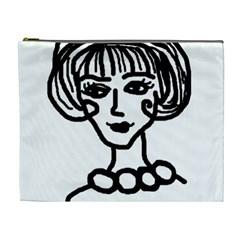 20s Girl Cosmetic Bag (xl) by snowwhitegirl