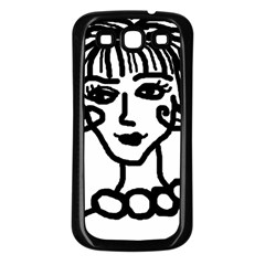 20s Girl Samsung Galaxy S3 Back Case (black) by snowwhitegirl