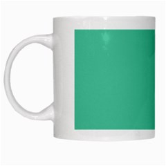 Seafoamy Green White Mugs by snowwhitegirl