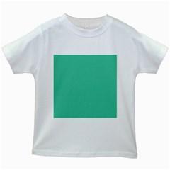 Seafoamy Green Kids White T Shirts by snowwhitegirl