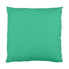 Seafoamy Green Standard Cushion Case (two Sides) by snowwhitegirl