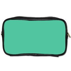 Seafoamy Green Toiletries Bags 2 Side by snowwhitegirl