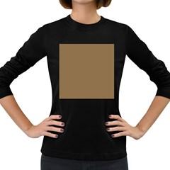 Brownish Women s Long Sleeve Dark T Shirts by snowwhitegirl