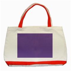 Purple Star Classic Tote Bag (red) by snowwhitegirl