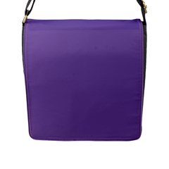 Purple Star Flap Messenger Bag (l)  by snowwhitegirl