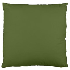 Earth Green Standard Flano Cushion Case (one Side) by snowwhitegirl