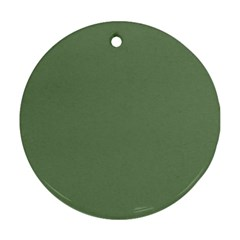 Army Green Round Ornament (two Sides) by snowwhitegirl