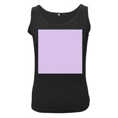 Baby Lilac Women s Black Tank Top
