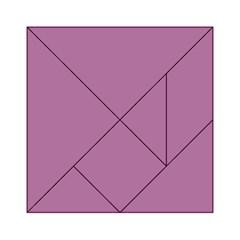 Silly Purple Acrylic Tangram Puzzle (6  X 6 ) by snowwhitegirl