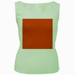 Dark Papaya Women s Green Tank Top
