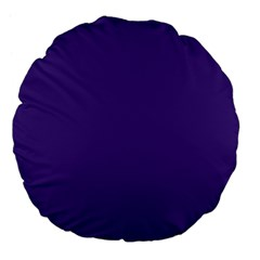 Dark Grape Purple Large 18  Premium Flano Round Cushions by snowwhitegirl