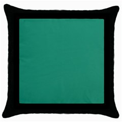 Teal Ocean Throw Pillow Case (black)