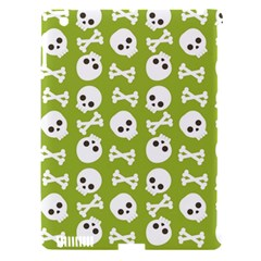 Skull Bone Mask Face White Green Apple Ipad 3/4 Hardshell Case (compatible With Smart Cover) by Alisyart