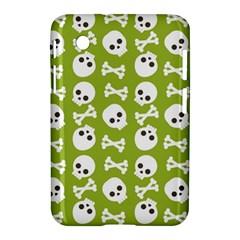 Skull Bone Mask Face White Green Samsung Galaxy Tab 2 (7 ) P3100 Hardshell Case  by Alisyart