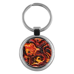 Lava Active Volcano Nature Key Chains (round)  by Alisyart