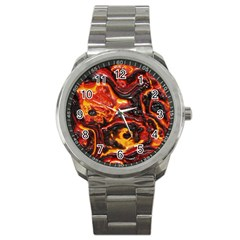 Lava Active Volcano Nature Sport Metal Watch by Alisyart