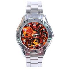 Lava Active Volcano Nature Stainless Steel Analogue Watch by Alisyart