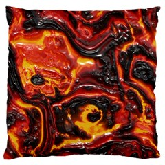 Lava Active Volcano Nature Large Cushion Case (one Side) by Alisyart