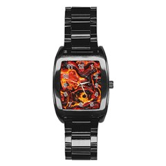 Lava Active Volcano Nature Stainless Steel Barrel Watch by Alisyart