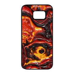 Lava Active Volcano Nature Samsung Galaxy S7 Edge Black Seamless Case by Alisyart