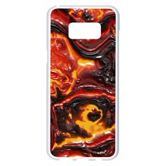 Lava Active Volcano Nature Samsung Galaxy S8 Plus White Seamless Case by Alisyart
