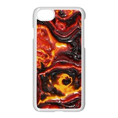 Lava Active Volcano Nature Apple Iphone 8 Seamless Case (white) by Alisyart