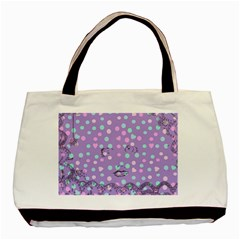 Little Face Basic Tote Bag (two Sides) by snowwhitegirl