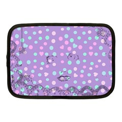 Little Face Netbook Case (medium)  by snowwhitegirl