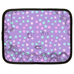 Little Face Netbook Case (xl)  by snowwhitegirl
