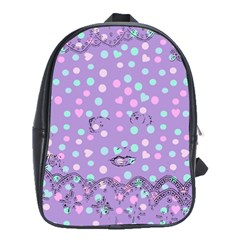 Little Face School Bag (large) by snowwhitegirl