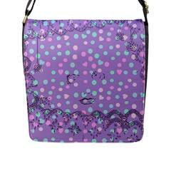 Little Face Flap Messenger Bag (l)  by snowwhitegirl