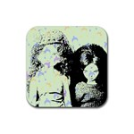 Mint Wall Rubber Square Coaster (4 pack)